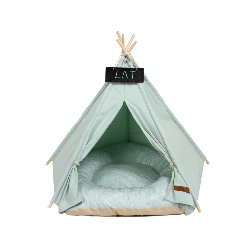 LAT Pet Bed Tent,Pet Teepee Dog Play House Tent,Removable and Washable,Cute Bed Tent for Cat Dog Pet